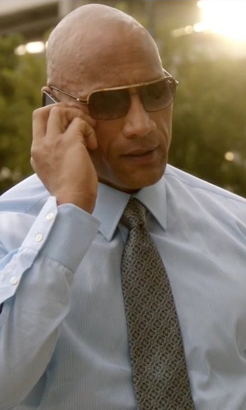 Dwayne Johnson with Gucci Patterned Silk Tie in Ballers