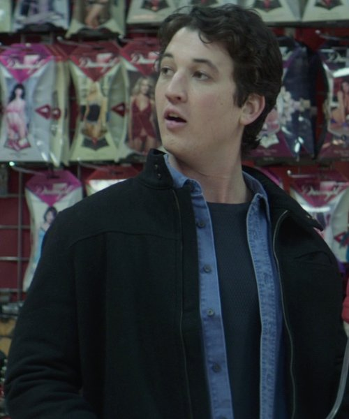 Miles Teller with Giorgio Armani Cotton Knit Short Sleeve Crewneck T-Shirt in That Awkward Moment