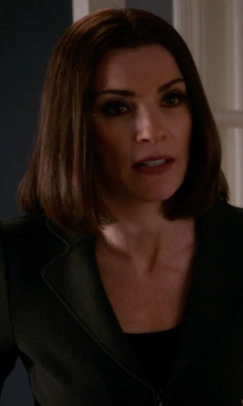 Julianna Margulies with J.Crew Wool Gabardine Ludlow Blazer in The Good Wife