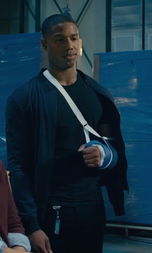 Michael B. Jordan with Helmut Lang Twill Chino Pants in Fantastic Four