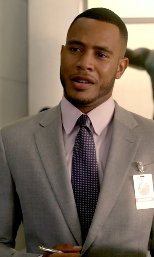Trai Byers with Armani Collezioni Giorgio End on End Suit in Empire