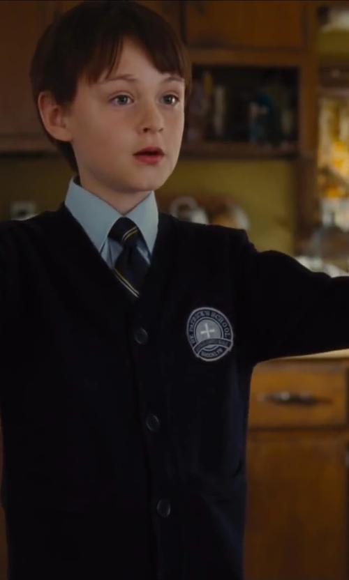 Jaeden Lieberher with Classroom Uniforms Boys Uniform 8-20 Unisex Long Sleeve V-Neck Sweater in St. Vincent