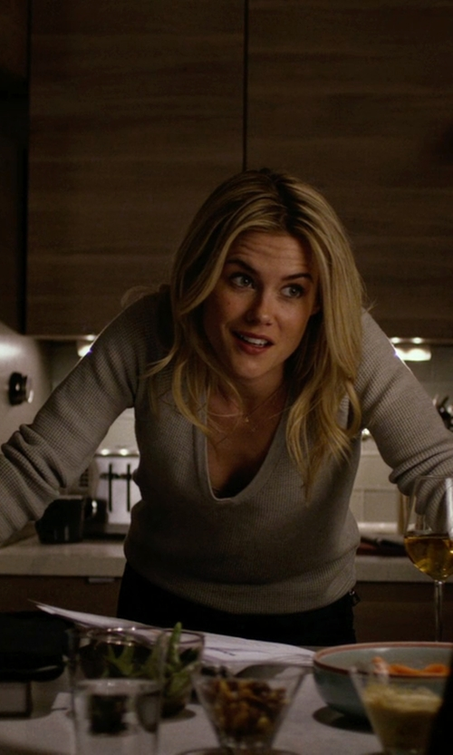 Rachael Taylor with Stefanel V Neck Sweater in Jessica Jones