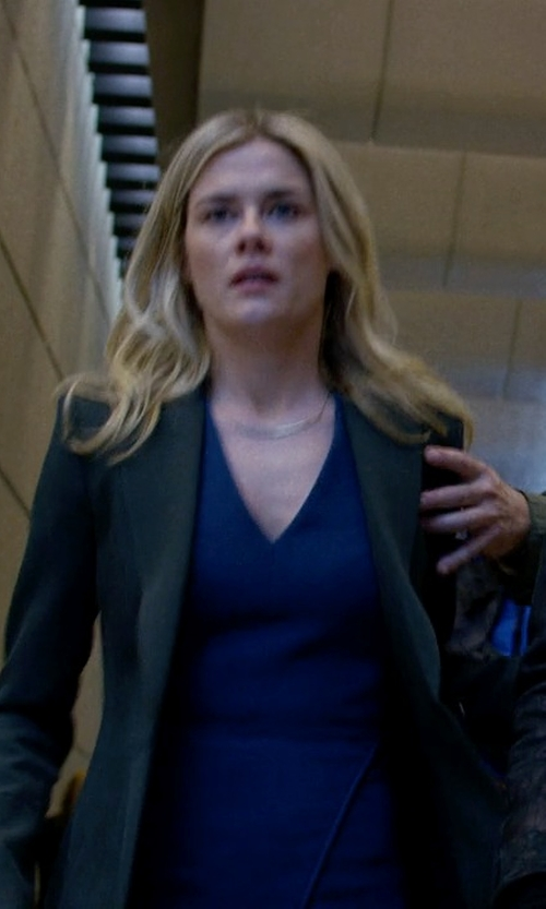 Rachael Taylor with Helmut Lang Wool Piqué Blazer in Jessica Jones