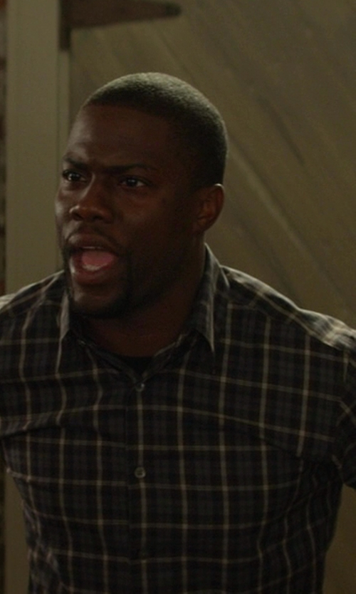 Kevin Hart with Bam Plaid Button Down Shirt in Ride Along