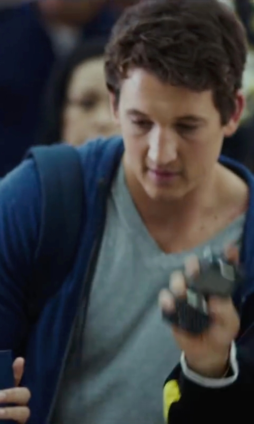 Miles Teller with Fred Perry Cotton Hoodie Jacket in War Dogs