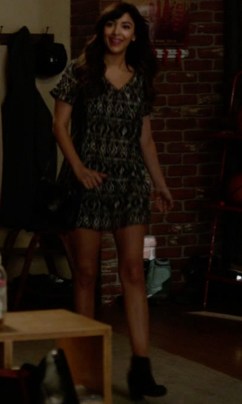 Hannah Simone with DV by Dolce Vita  Cactus Studded Bootie in New Girl