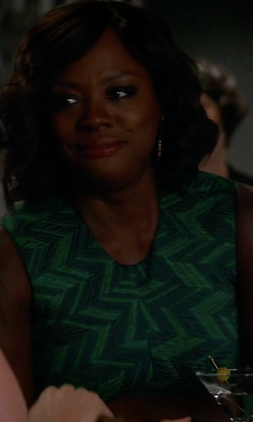 Viola Davis with Jason Wu Sleeveless Herringbone Cocktail Dress in How To Get Away With Murder
