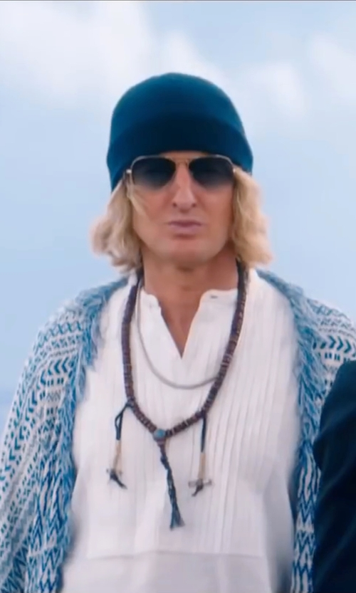 Owen Wilson with Leesa Evans (Costume Designer) Custom Made Cotton Beanie in Zoolander 2