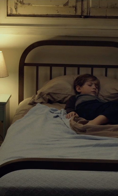 Jacob Tremblay with One Kings Lane Felicia Porcelain Table Lamp in Before I Wake