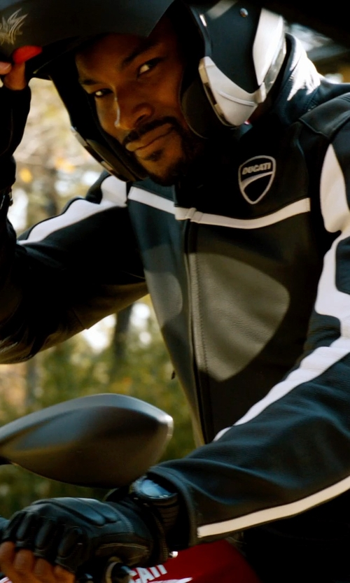 Tyson Beckford with Ducati Twin Leather Jacket in Addicted