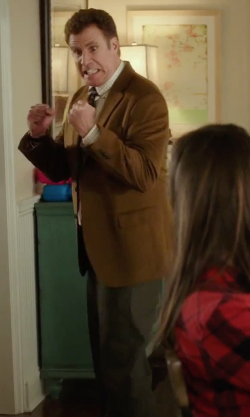 Will Ferrell with Duckie Brown Gentlemen Flat Front Wool Trousers in Daddy's Home