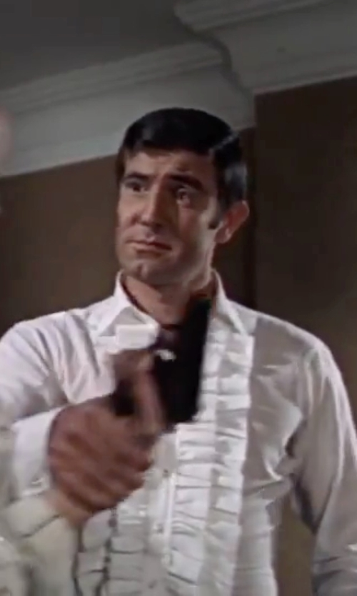 George Lazenby with Frank Foster (Costume Designer) Custom Made Ruffled-Front Tuxedo Shirt in On Her Majesty's Secret Service