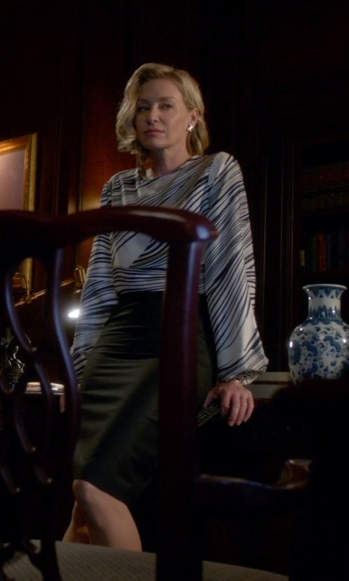 Portia de Rossi with Pierre Balmain Chiffon Blouse in Scandal