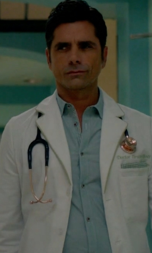 John Stamos with Alfani Spectrum Sea Coast Dress Shirt in Scream Queens