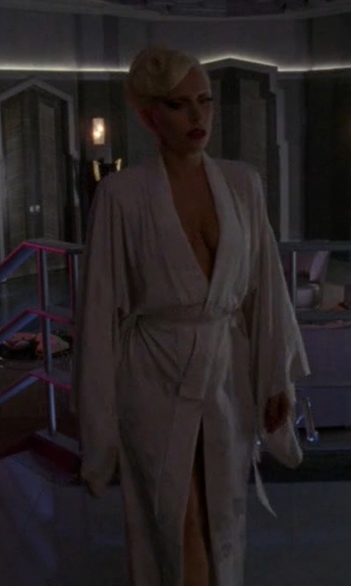 Lady Gaga with Lauren Ralph Lauren Long Greenwich Robe in American Horror Story