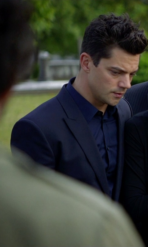 Dominic Cooper with Hugo Boss Basic Two-Button Suit in Need for Speed