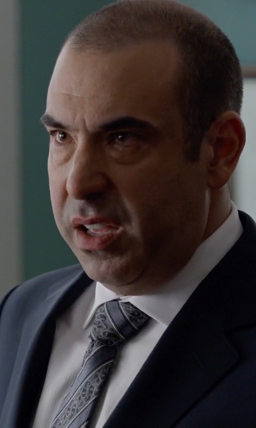 Rick Hoffman with Armani Collezioni Stripe Dress Shirt in Suits