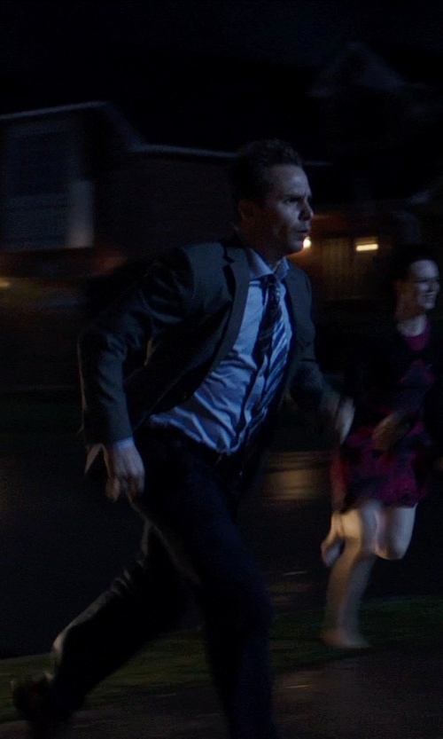 Sam Rockwell with Banana Republic Tailored Slim Fit Dress Pants in Poltergeist