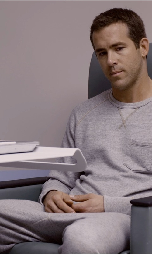 Ryan Reynolds with YMC Trackie Cotton Sweatpants in Self/Less