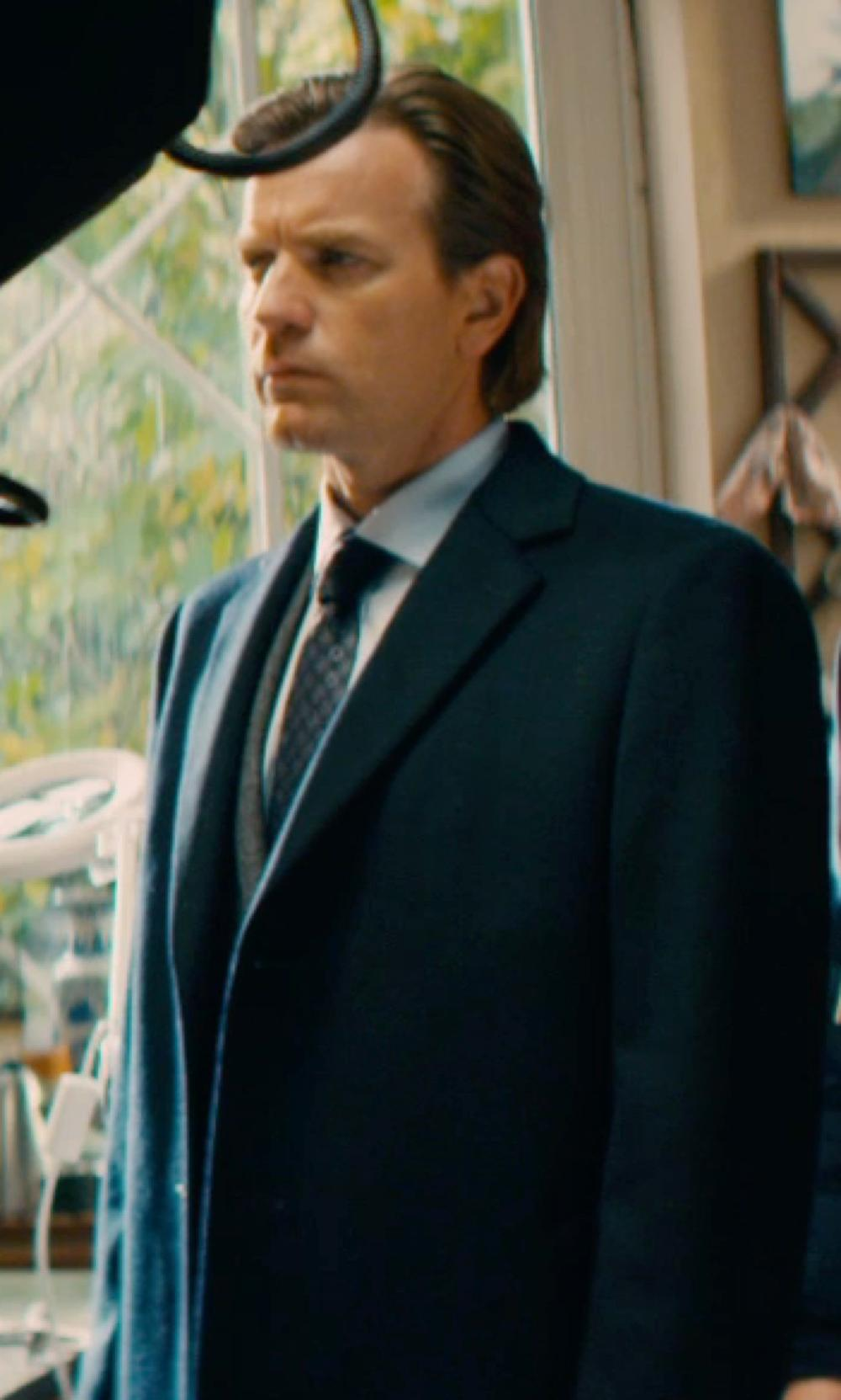 Ewan McGregor with Fendi Classic Single Breasted Coat in Mortdecai