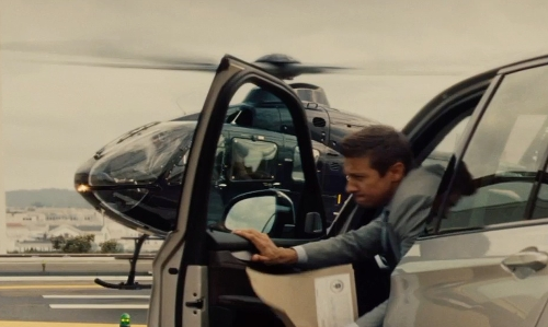 Unknown Actor with Eurocopter EC135 Helicopter in Mission: Impossible - Rogue Nation