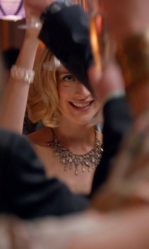 Caitlin FitzGerald with Carolee Crystal Stems Dramatic Frontal Necklace in Adult Beginners