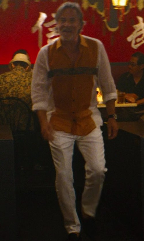 Don Johnson with Dsquared2 Slim Fit Chino Trouser in The Other Woman