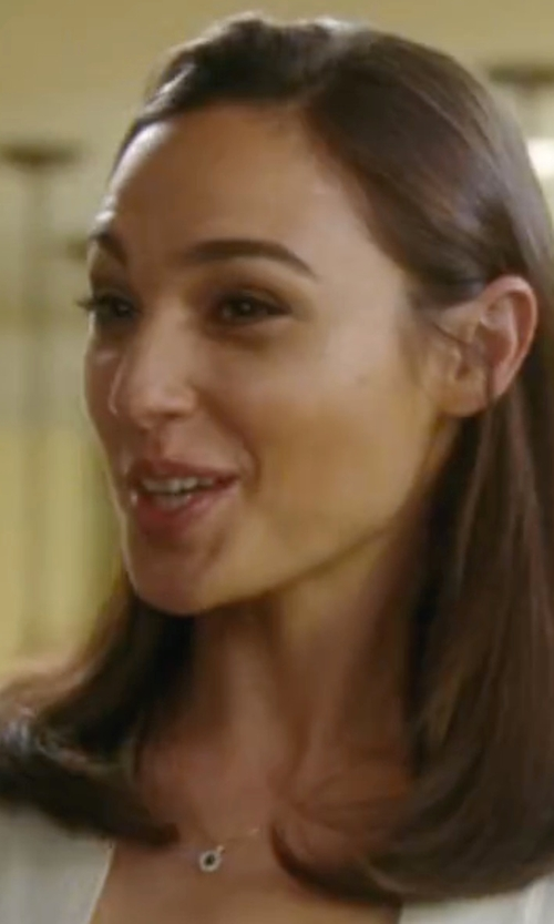 Gal Gadot with Kalan by Suzanne Kalan Moonstone & Sapphire Pendant Necklace in Keeping Up with the Joneses