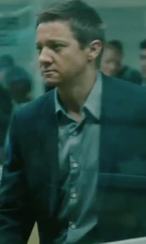 Jeremy Renner with Burberry Millbank Modern Wool & Cashmere Suit in The Bourne Legacy