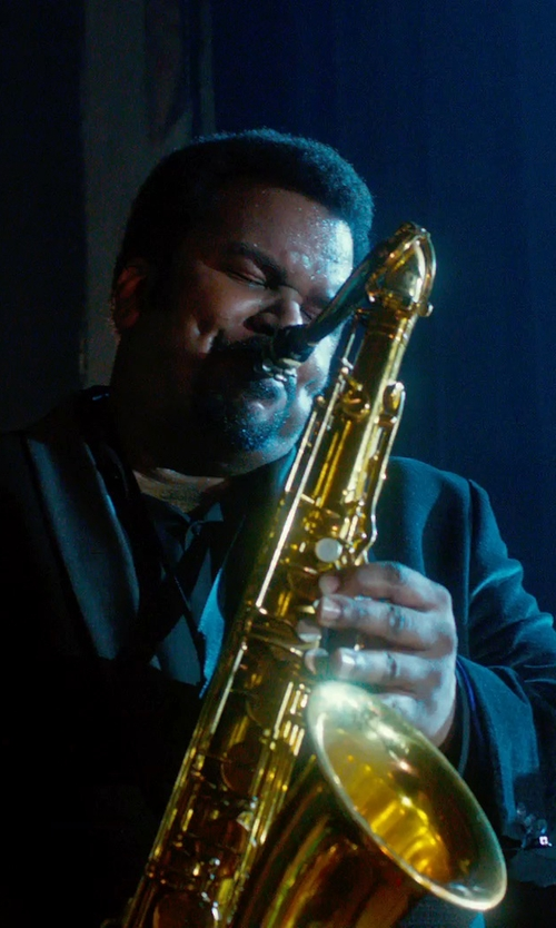 Craig Robinson with Izac Carpiste Black Tuxedo With Shawl Collar in Get On Up