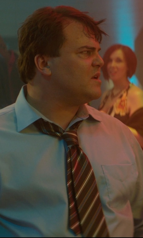 Jack Black with Bigi Mixed-Stripe Jacquard Neck Tie in The D Train