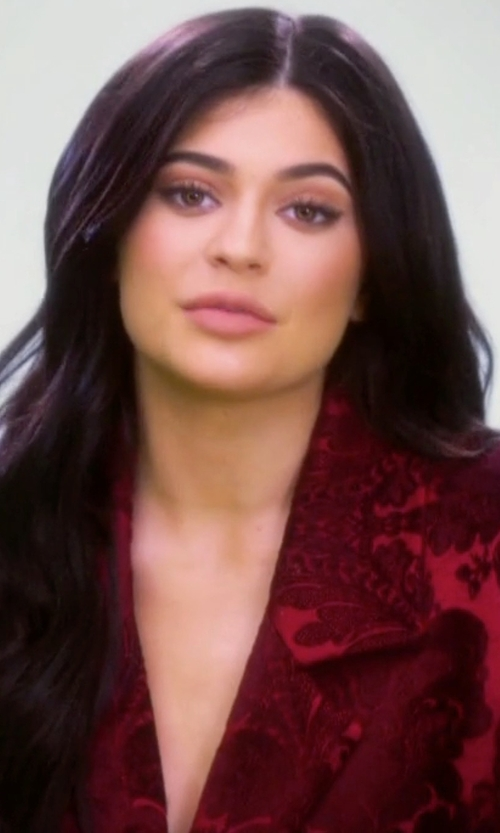 Kylie Jenner with Zeynep Erdogan Brocade Blazer in Keeping Up With The Kardashians