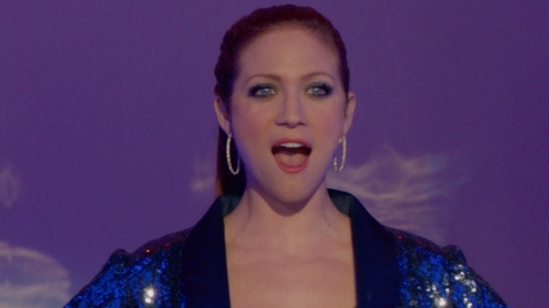 Brittany Snow with ABS by Allen Schwartz Jewelry Stone Hoop Earrings in Pitch Perfect 2