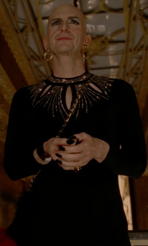 Denis O'Hare with Maggy London Chiffon Embellishment Sheath Dress in American Horror Story