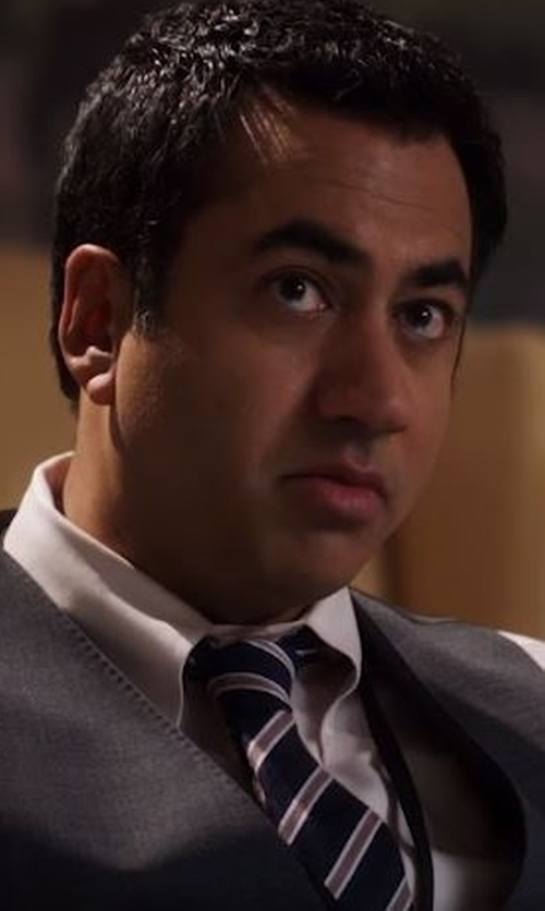 Kal Penn with Michael Kors Silk Striped Tie in Designated Survivor