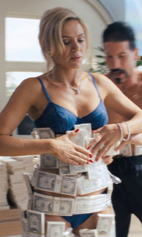 Katarina Cas with Splendid Women's Mesh Ruched Bikini Panty in The Wolf of Wall Street
