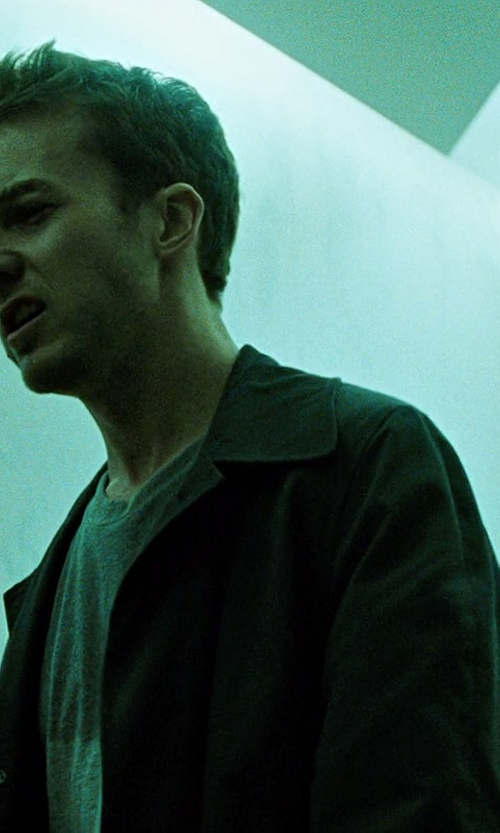 Edward Norton with Vince Camuto Top Coat in Fight Club