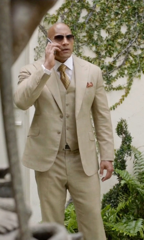 Dwayne Johnson with Torino Leather Co. Italian Embossed Calf/Trim Belt in Ballers