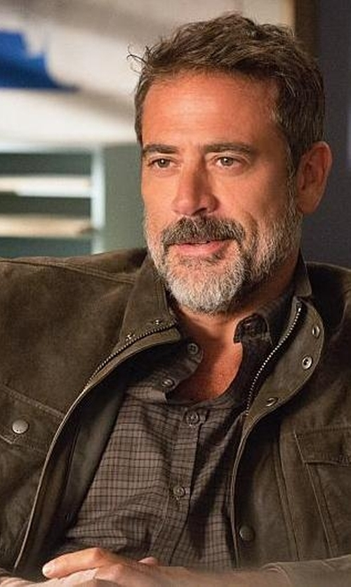 Jeffrey Dean Morgan with Levi's Men's Washed Cotton Two Pocket Military Jacket in The Good Wife