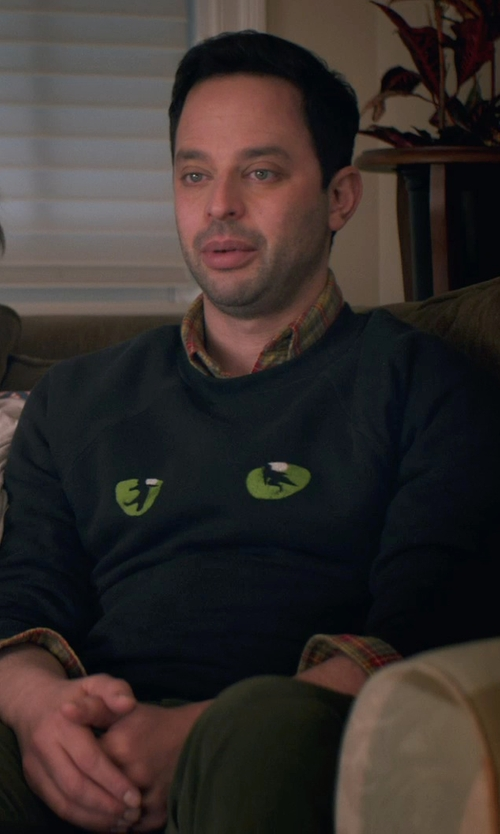 Nick Kroll with A.P.C. Outdoor Sweatshirt in Adult Beginners