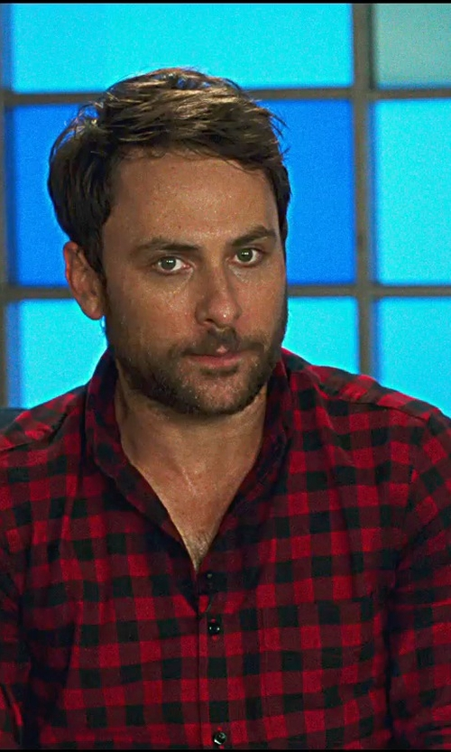 Charlie Day with Ralph Lauren Buffalo Plaid Sport Shirt in Horrible Bosses 2