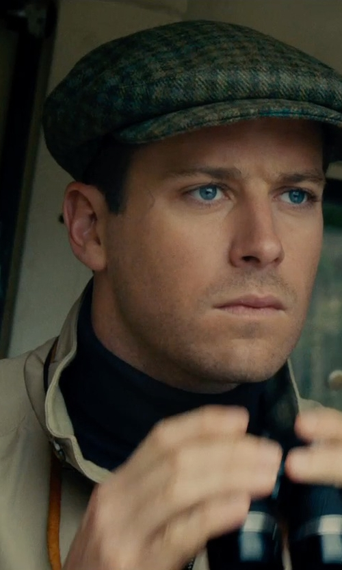 Armie Hammer with Maison Margiela Heavy Twill Zip Jacket in The Man from U.N.C.L.E.