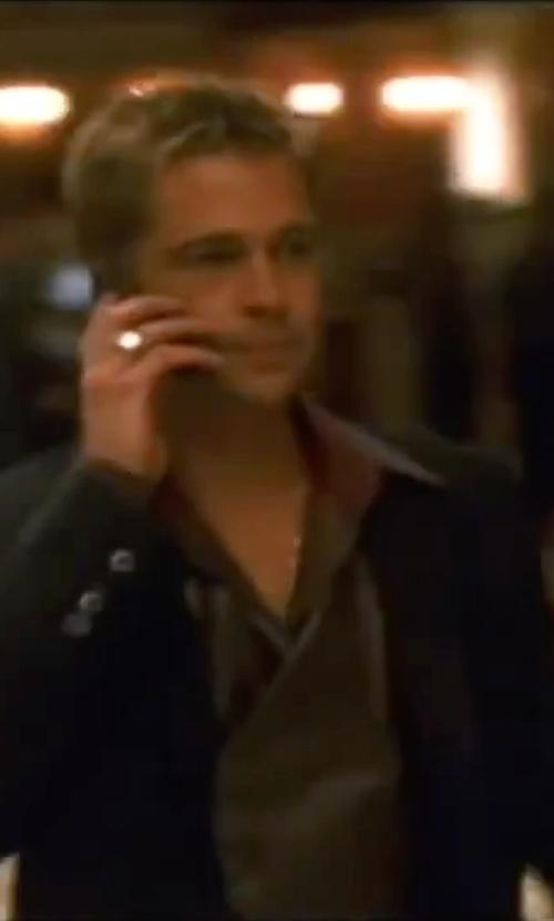 Brad Pitt with James Perse Poplin Dress Shirt in Ocean's Eleven