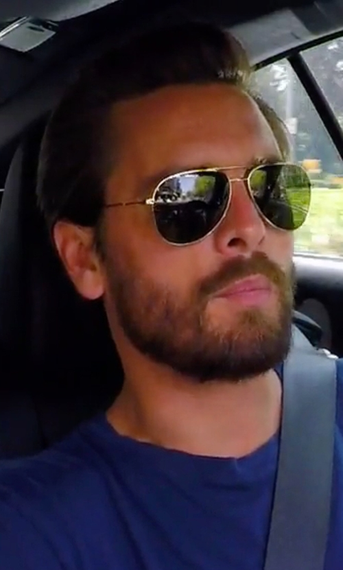 Scott Disick with Ray-Ban Teardrop Aviator Sunglasses in Keeping Up With The Kardashians