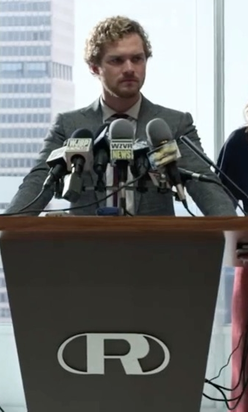 Finn Jones with Saks Fifth Avenue Collection Textured Wool Suit in Marvel's Iron Fist
