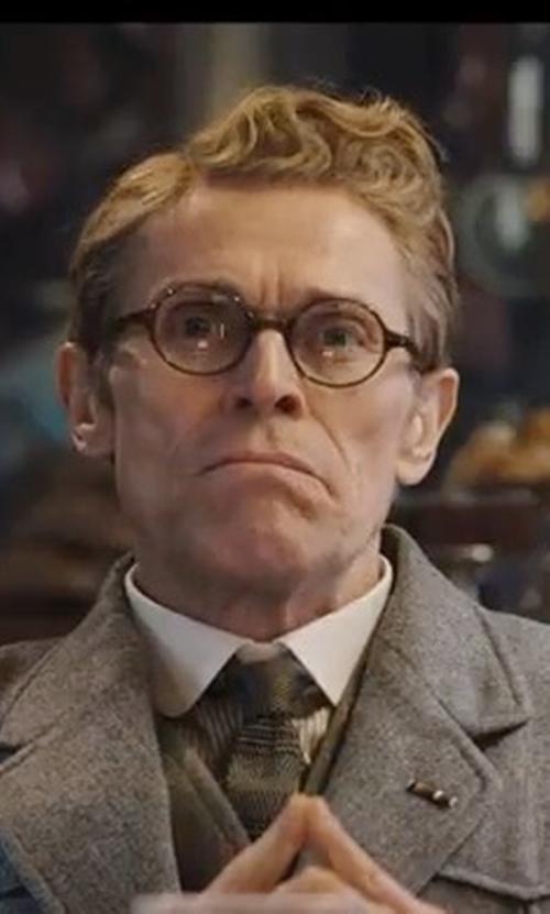 Willem Dafoe with Thursday Finest Slate + Sapphire Best Man Wool Tie in Murder on the Orient Express