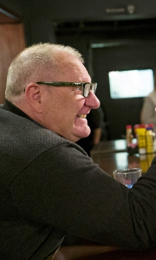 Ed O'Neill with Calvin Klein Jeans Wool Bomber Jacket in Modern Family