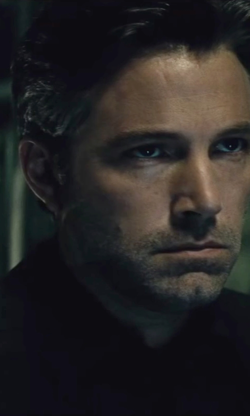 Ben Affleck with Gucci Custom Made Black Dress Shirt in Batman v Superman: Dawn of Justice