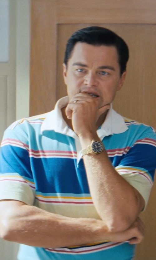 Leonardo DiCaprio with Tag Heuer Series 1000 Watch in The Wolf of Wall Street